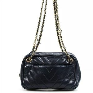 Chanel Chevron Quilted Vintage Camera Bag Handbag